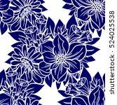 abstract elegance seamless... | Shutterstock .eps vector #524025538