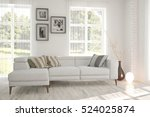 white room with sofa and green... | Shutterstock . vector #524025874