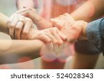 double exposure of hands were a ... | Shutterstock . vector #524028343