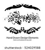 abstract vector elements  set... | Shutterstock .eps vector #524029588