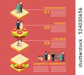 sandwich generation infographic.... | Shutterstock .eps vector #524030656