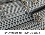 close up stack of steel bar or... | Shutterstock . vector #524031016