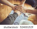 business team standing hands... | Shutterstock . vector #524031529