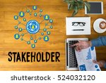 Small photo of stakeholder engagement concept ,, strategy mind map, business , Partner Deal Contributor Shareholder , Business management