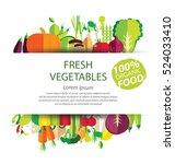 vegetables vector illustration   Shutterstock .eps vector #524033410
