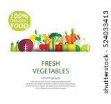 vegetables vector illustration   Shutterstock .eps vector #524033413