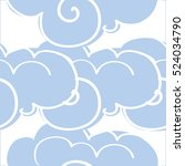 seamless pattern with clouds.... | Shutterstock .eps vector #524034790