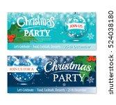 invitation merry christmas... | Shutterstock .eps vector #524038180