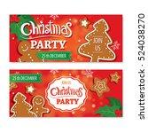 invitation merry christmas... | Shutterstock .eps vector #524038270