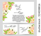 vintage delicate invitation...   Shutterstock .eps vector #524038816