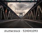 sunset at manhattan bridge  new ... | Shutterstock . vector #524041093