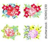flower set | Shutterstock .eps vector #524041150