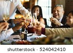 restaurant chilling out classy... | Shutterstock . vector #524042410