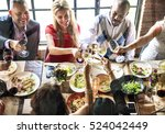 restaurant chilling out classy... | Shutterstock . vector #524042449