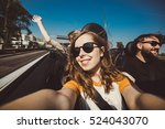 happy group of friends taking... | Shutterstock . vector #524043070