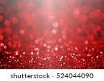 Abstract Dark Black Red Glitte...