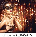 beauty glamour woman... | Shutterstock . vector #524044174