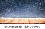 empty wood table top with... | Shutterstock . vector #524044993
