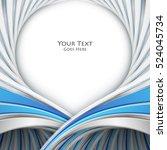 bright vector background. wavy...   Shutterstock .eps vector #524045734