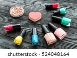 set of decorative cosmetics on... | Shutterstock . vector #524048164
