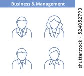 occupations avatar set ... | Shutterstock .eps vector #524052793