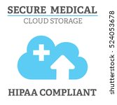 hipaa compliance icon graphic... | Shutterstock .eps vector #524053678