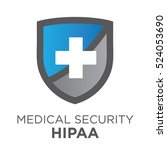 hipaa compliance icon graphic... | Shutterstock .eps vector #524053690