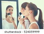 beautiful girls looking in the... | Shutterstock . vector #524059999
