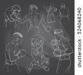 hand drawn illustration of... | Shutterstock .eps vector #524068240