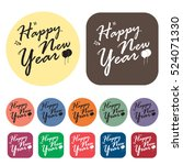 new year icons set.vector... | Shutterstock .eps vector #524071330