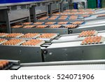 fresh and raw chicken eggs on a ... | Shutterstock . vector #524071906