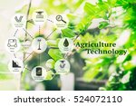 precision agriculture and... | Shutterstock . vector #524072110