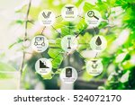 precision agriculture and... | Shutterstock . vector #524072170