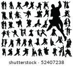 tango silhouette vector