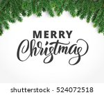 christmas card with text and... | Shutterstock .eps vector #524072518
