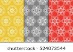 set of geometry seamless... | Shutterstock .eps vector #524073544