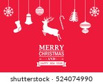 christmas card background. | Shutterstock .eps vector #524074990