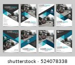 blue triangle collection set... | Shutterstock .eps vector #524078338