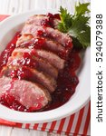 Sliced Roast Duck Breast With...