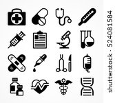 medical icons on white... | Shutterstock .eps vector #524081584
