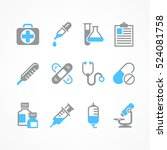 medical icons on white... | Shutterstock .eps vector #524081758