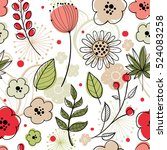 floral vector seamless pattern. ... | Shutterstock .eps vector #524083258