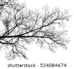 tree branch silhouette on a... | Shutterstock . vector #524084674