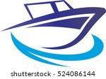 motor boart   Shutterstock .eps vector #524086144