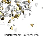 gold and white pyramid macro... | Shutterstock . vector #524091496
