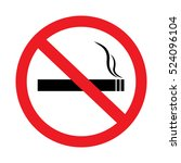 no smoking sign on white... | Shutterstock .eps vector #524096104