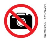 No Photo Sign On White...