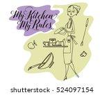 stock illustration. woman in... | Shutterstock .eps vector #524097154