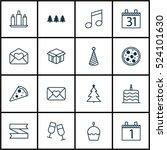 set of 16 celebration icons.... | Shutterstock .eps vector #524101630