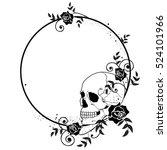 vector frame with skull and... | Shutterstock .eps vector #524101966